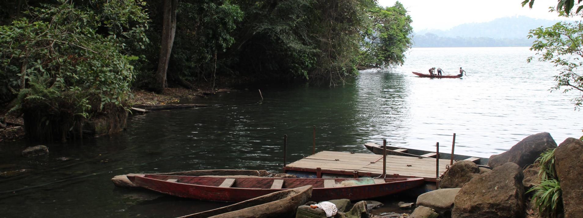 Le lac Barombi au Cameroun